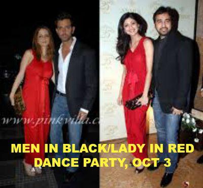 Men in Black/Lady in Red Dance